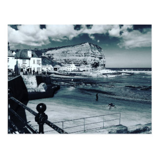 Staithes harbour view, North Yorkshire. Postcard