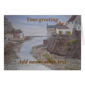 Staithes, Scarborough, personalizado de North Tarjeta De Felicitación