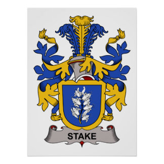 Stake Family Crest Poster