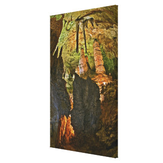 Stalactites and stalagmites in the Hall of Giants, Canvas Print