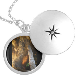 Stalagmite Silver Plated Necklace