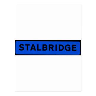 Stalbridge en azul tarjetas postales