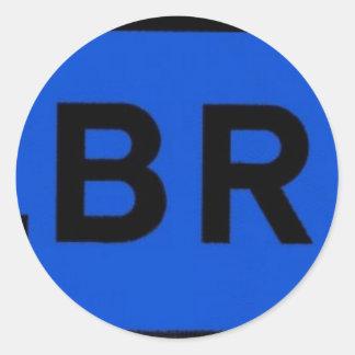 Stalbridge in Blue Classic Round Sticker