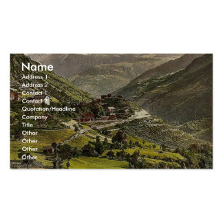 Stalden railway station and hotel Valais Alps o Business Card
