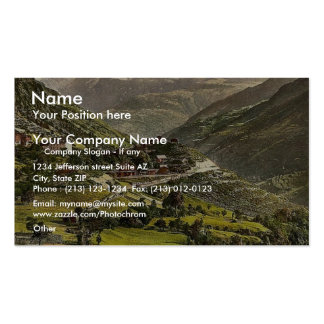 Stalden railway station and hotel Valais Alps o Business Card Templates