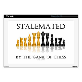 Stalemated By The Game Of Chess (Reflective Chess) Laptop Decal