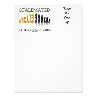 Stalemated By The Game Of Chess (Reflective Chess) Letterhead