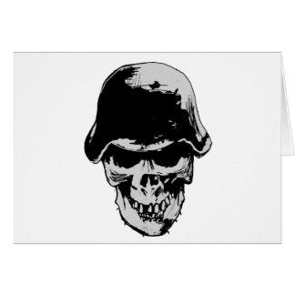 Stalhelm del cráneo de la muerte tarjeta de felicitación