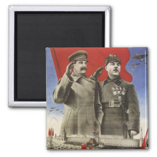 Stalin 2 Inch Square Magnet