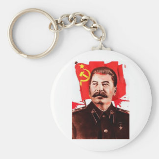 Stalin Basic Round Button Keychain