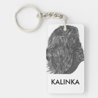 stalin dog Rectangle (double-sided) Keychain