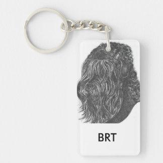 stalin dog Rectangle (single-sided) Keychain