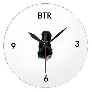 stalin dog Round (Large) Wall Clock