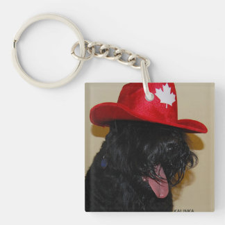 stalin dog Square (double-sided) Keychain
