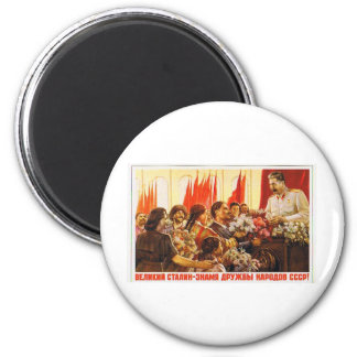 stalin.leader of ussr 2 inch round magnet