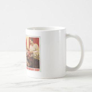 stalin leader of ussr coffee mug