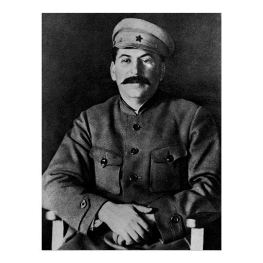 Stalin photo portrait poster