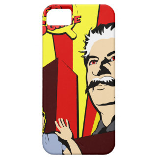 Stalin portrait red scare soviet union poster iPhone 5 covers