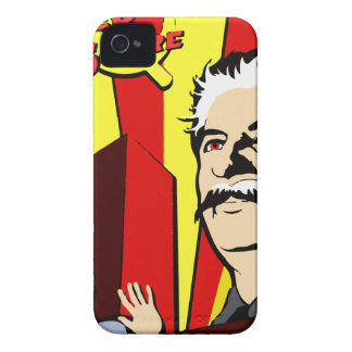 Stalin portrait red scare soviet union poster iPhone 4 Case-Mate cases