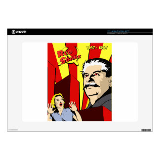 Stalin portrait red scare soviet union poster laptop skins