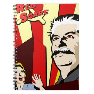 Stalin portrait red scare soviet union poster spiral notebooks