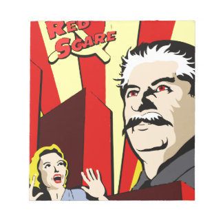 Stalin portrait red scare soviet union poster notepad