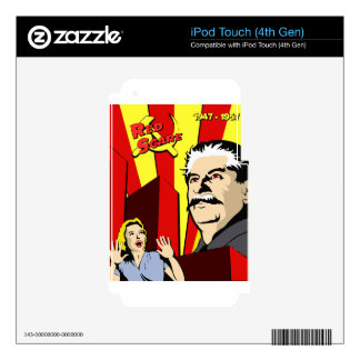 Stalin portrait red scare soviet union poster skin for iPod touch 4G