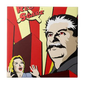 Stalin portrait red scare soviet union poster tile