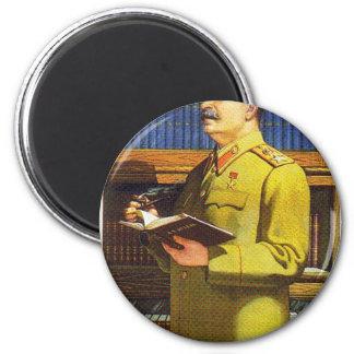 stalin poster art 2 inch round magnet