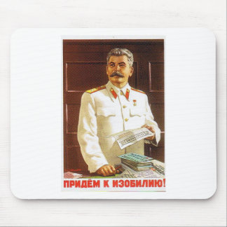 stalin poster art mouse pad