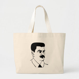 Stalin the great large tote bag