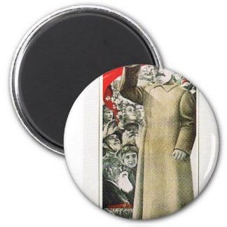 stalin the leader ussr 2 inch round magnet