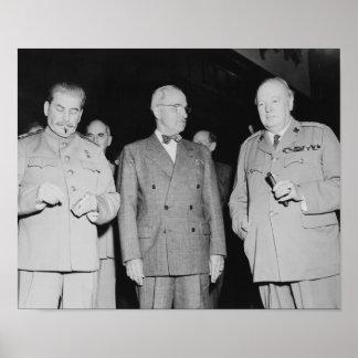 Stalin, Truman, And Churchill -- WW2 Photo Poster