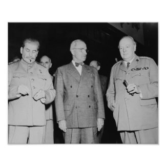 Stalin, Truman, And Churchill -- WWII Poster