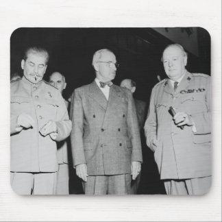 Stalin, Truman, y Churchill -- Foto WW2 Tapetes De Ratón