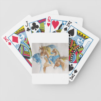 Stalions in Pastel Bicycle Playing Cards
