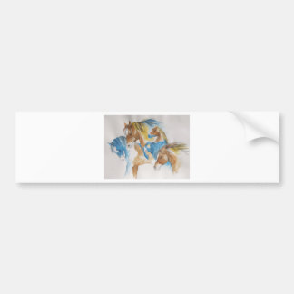 Stalions in Pastel Bumper Sticker