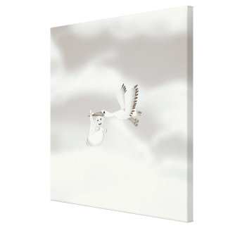 Stalk carrying new born Baby Stretched Canvas Prints