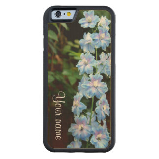 Stalk of Blue Flowers Carved Maple iPhone 6 Bumper Case