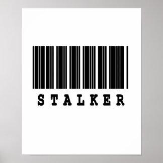 stalker barcode design poster