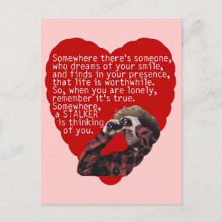 Stalker - Funny Valentines Day Holiday Postcard