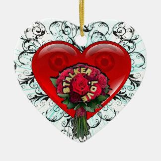Stalker Love Ceramic Ornament