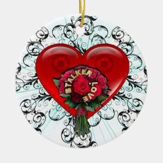 Stalker Love Double-Sided Ceramic Round Christmas Ornament