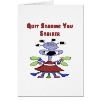 Stalker Monster Greeting Card