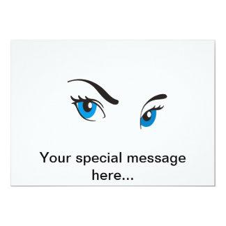 Stalking Blue Eyes Card