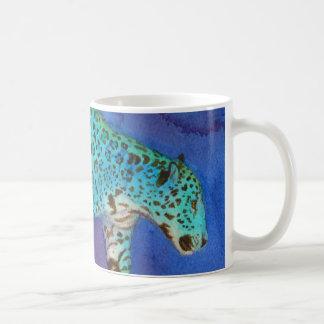 Stalking Fantasy Blue Jaguar Coffee Mug