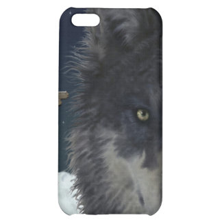 Stalking Grey Wolf Cool Wildlife Art iPhone Case iPhone 5C Cover