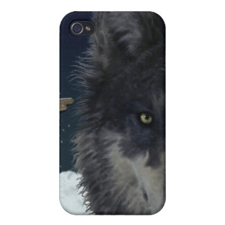 Stalking Grey Wolf Cool Wildlife Art iPhone Case Case For iPhone 4