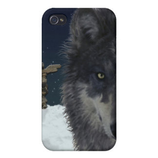 Stalking Grey Wolf Cool Wildlife Art iPhone Case iPhone 4/4S Case