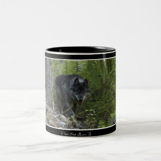 Stalking Grey Wolf & Forest Drinking Mug